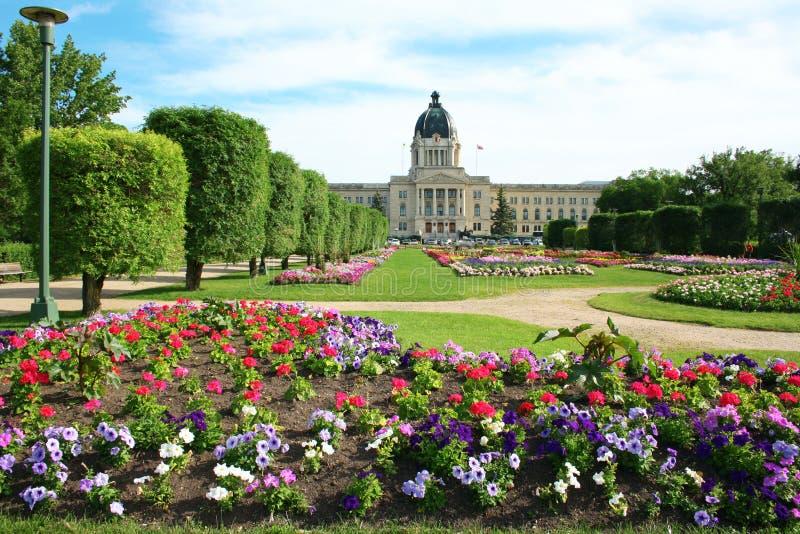 Construction législative de Saskatchewan images libres de droits