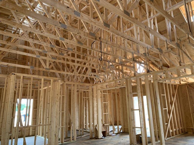 Construction ? la maison neuve image libre de droits