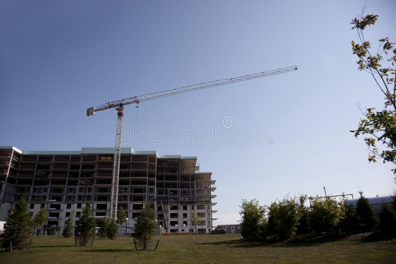 Construction at Larry Uteck. Halifax, Nova Scotia- august 2, 2017: Construction of a new building or complex in the Larry Uteck area of Halifax stock images