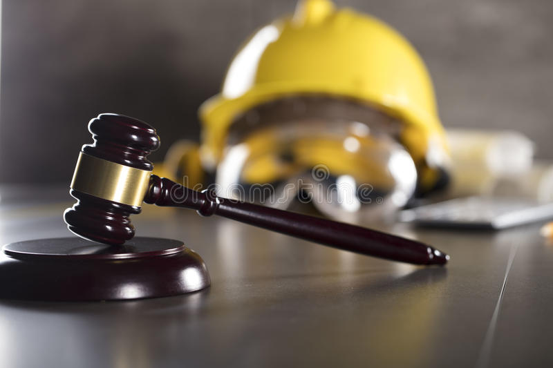 Construction law. royalty free stock image
