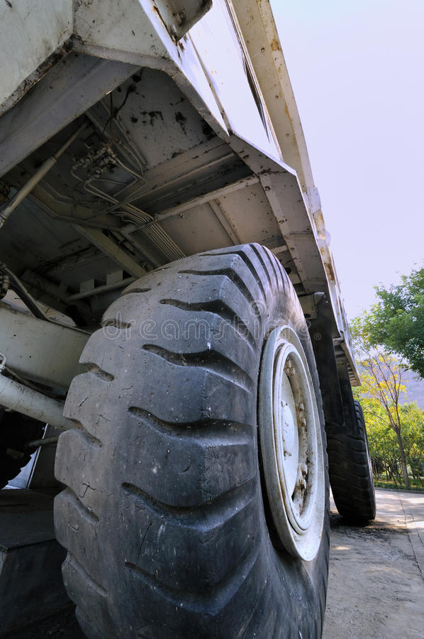 Construction Loader Body And Tyre Royalty Free Stock Photos