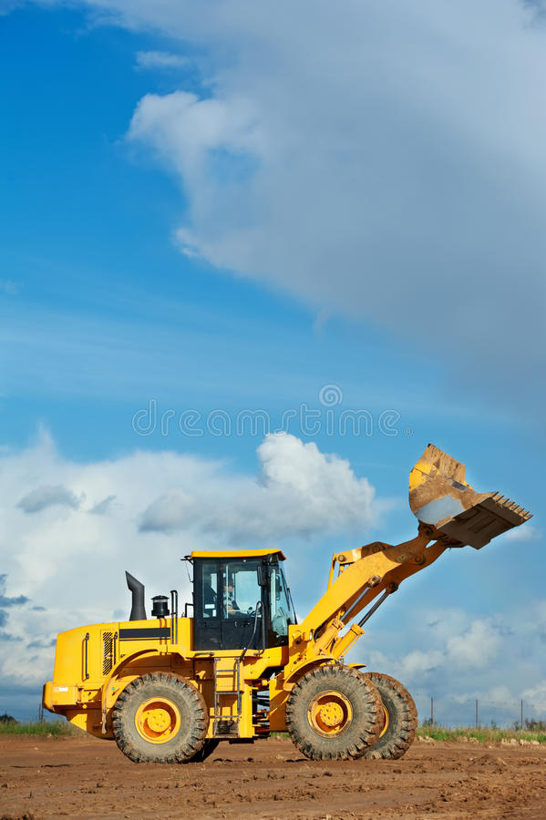 Construction loader excavator stock photo