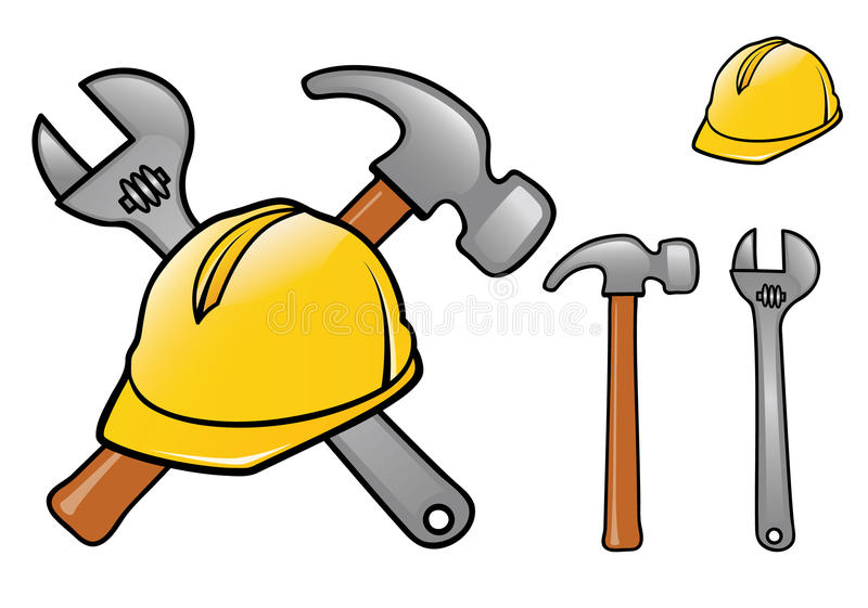 Construction Logo royalty free illustration