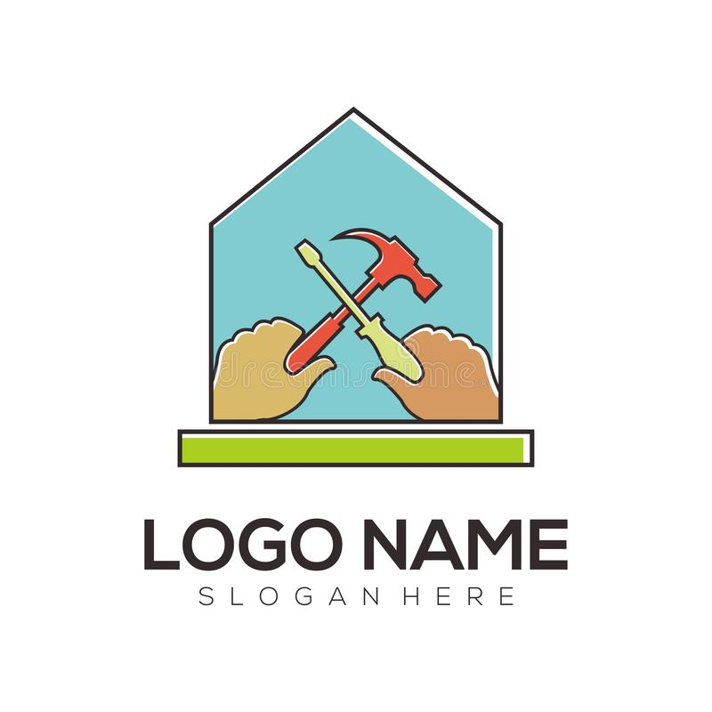 Construction logo and icon design stock illustration