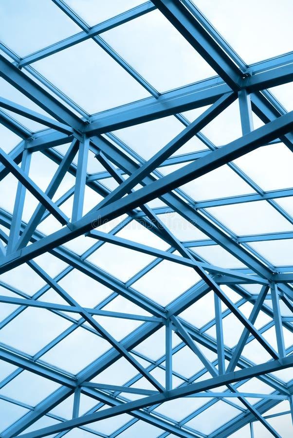 Construction métallique du plafond photographie stock libre de droits