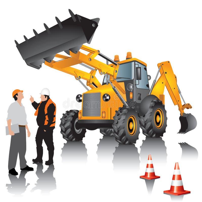 Construction machine stock illustration