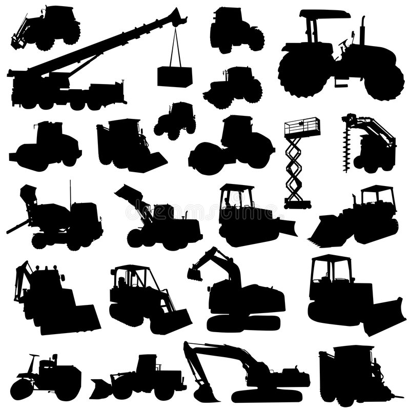 Construction machine vector stock illustration