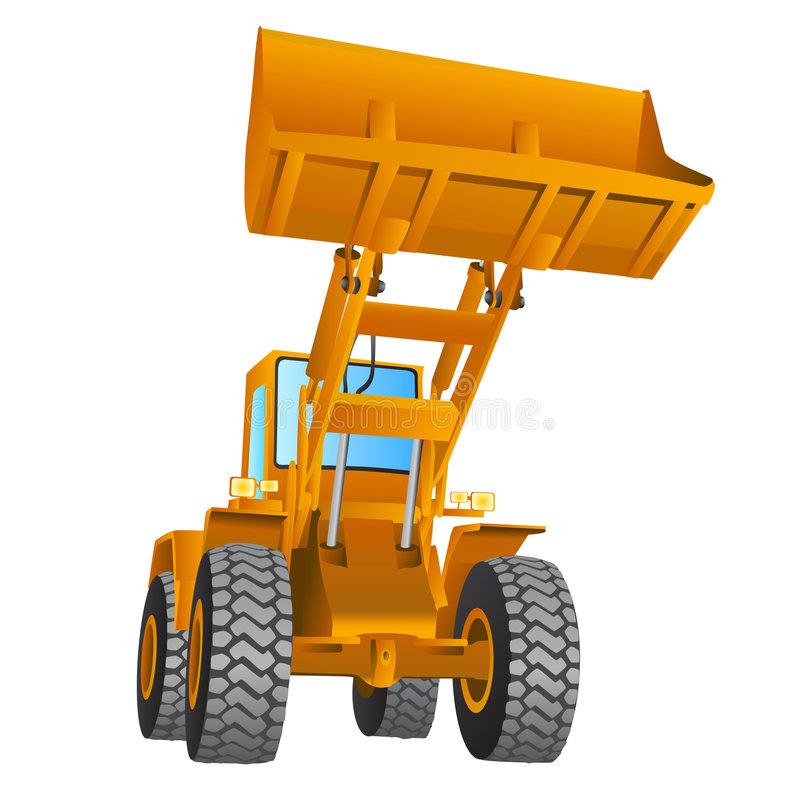 Construction machine vector royalty free illustration