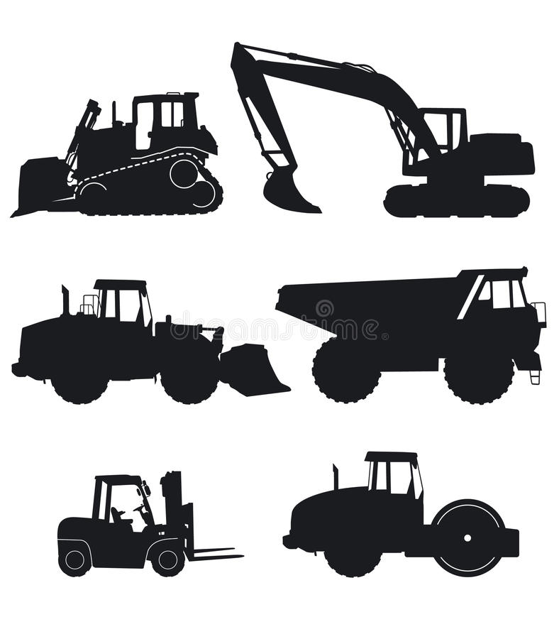 Download Construction machinery stock vector. Image of tractor - 15899054