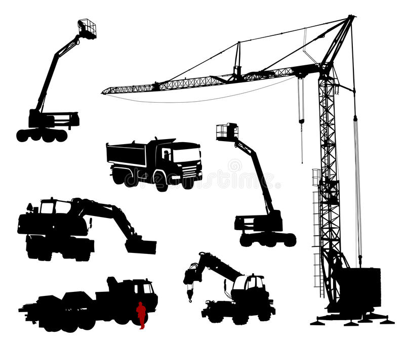 Download Construction machinery. stock vector. Illustration of lift - 19252006