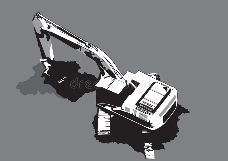 Download Construction Machinery Digging Vector Stock Vector - Image: 12113379
