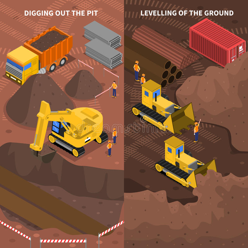 Free Construction Machinery Isometric Vertical Banners Set Royalty Free Stock Photo - 67267865