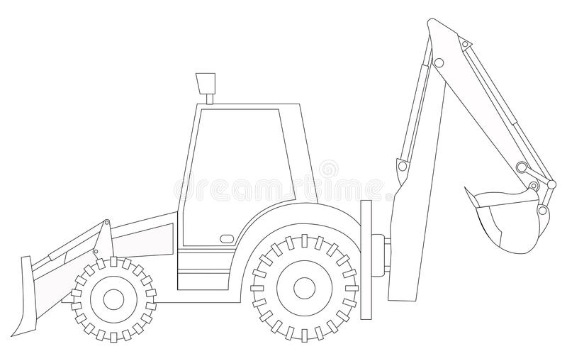 Construction Machine. Crane. Coloring Pages For Children Stock ... | 509x800