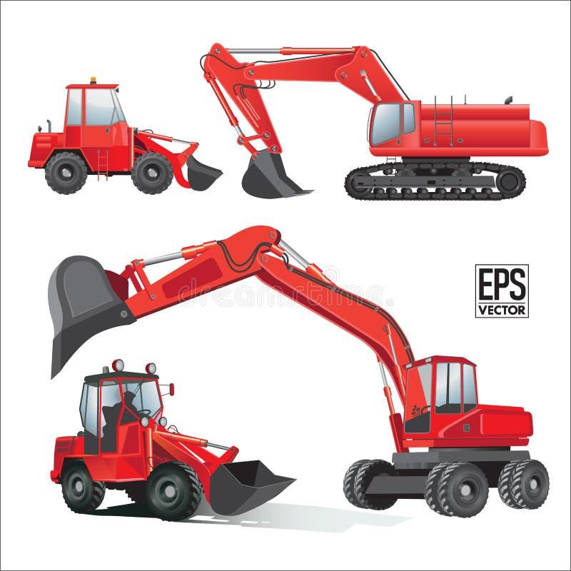 Construction machines vector illustration