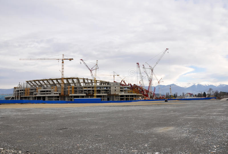 Download Construction Of The Main Stadium In The Olympic Pa Editorial Stock Image - Image: 24214064