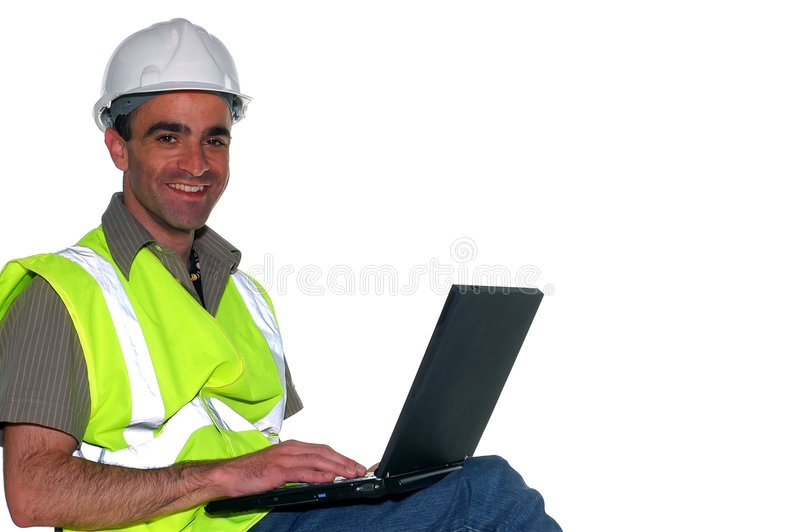Construction manager stock image