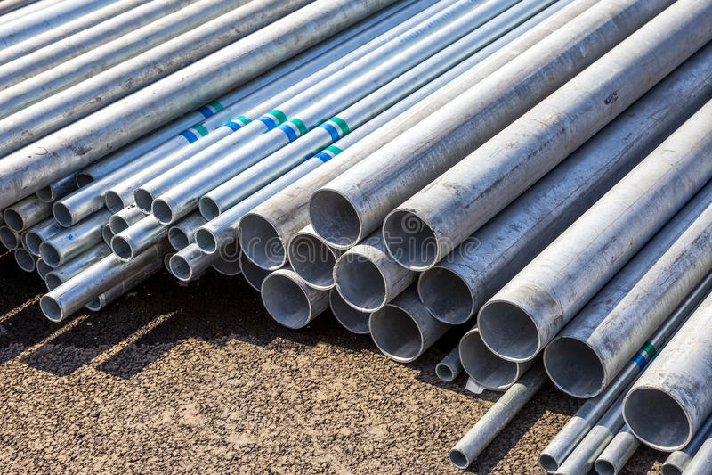 Construction material steel tube royalty free stock photography