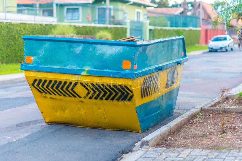 Construction material waste dumpster royalty free stock photos