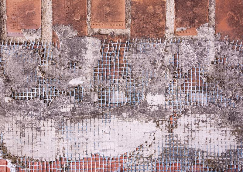 The construction mesh for concrete wall. royalty free stock photography