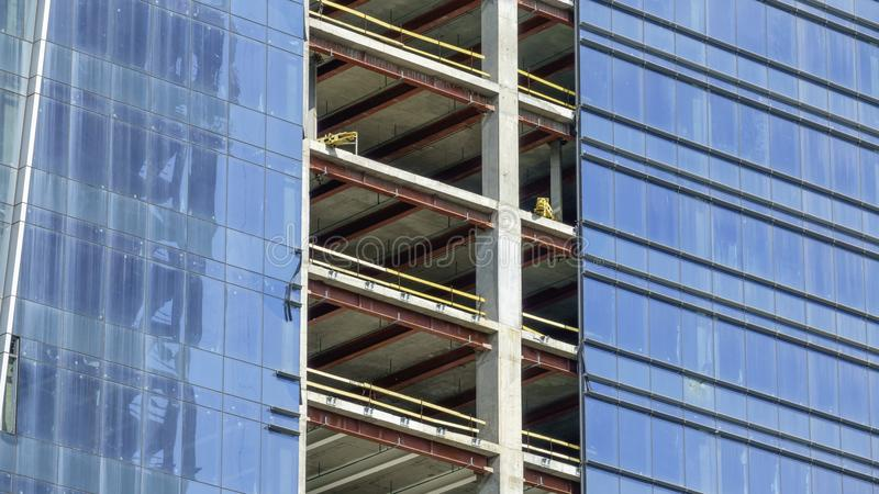 Construction of a modern building royalty free stock photos