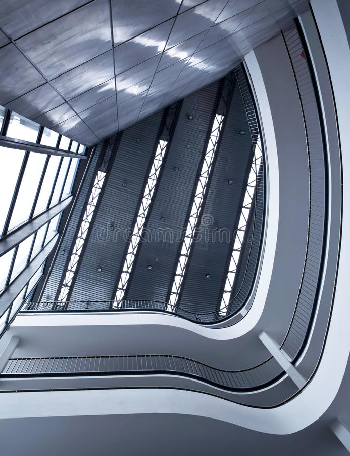 Construction moderne d'architecture photographie stock