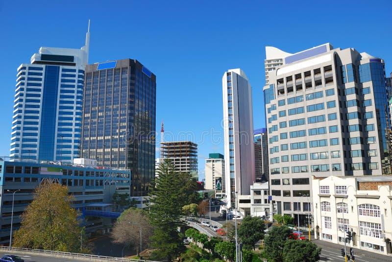 Construction moderne dans la ville d'Auckland image libre de droits