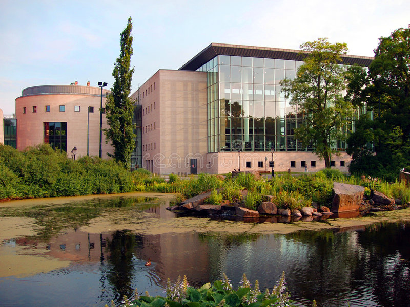 Construction moderne de Malmö - Suède image stock