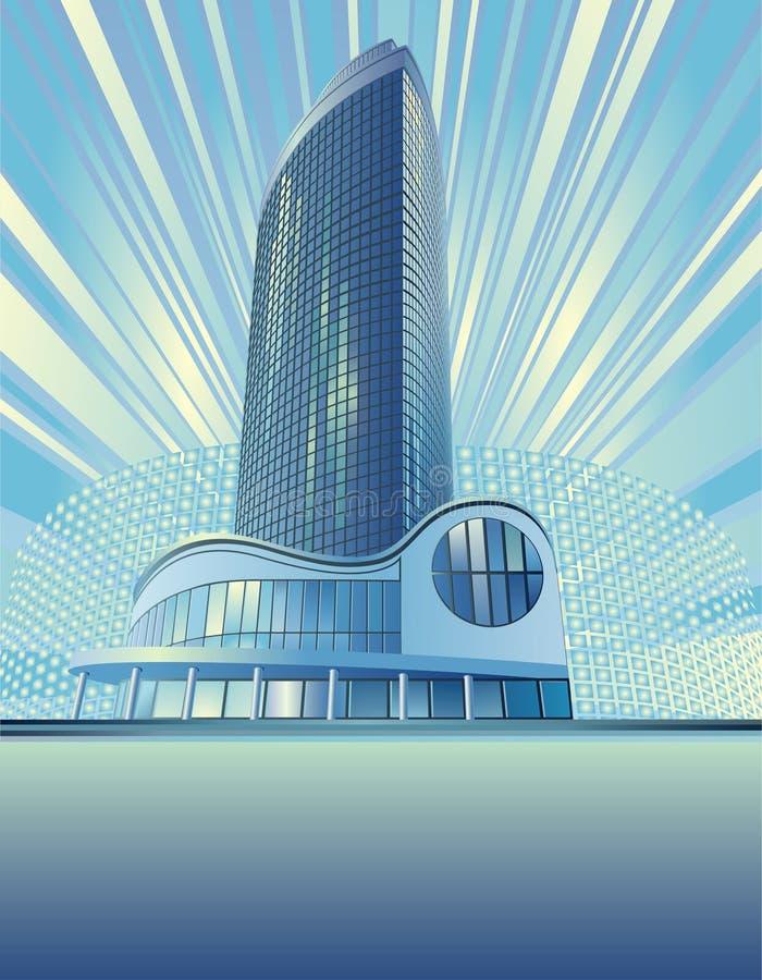 Construction moderne de ville illustration libre de droits