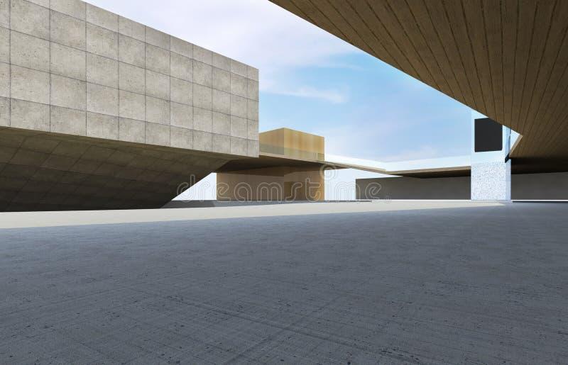Construction moderne du centre images libres de droits