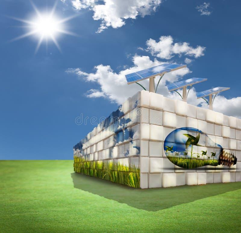 Construction moderne sur la zone verte images libres de droits
