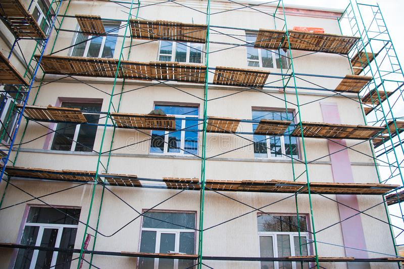 Construction of multi-storey residential building. Multi-storey building. Construction of multi-storey residential building royalty free stock photo