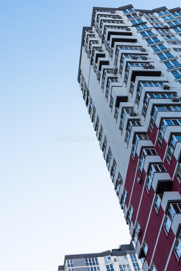 New multi-storey houses in Kiev. Construction of multi-storey residential buildings, new houses in Kiev, the capital of Ukraine stock photo