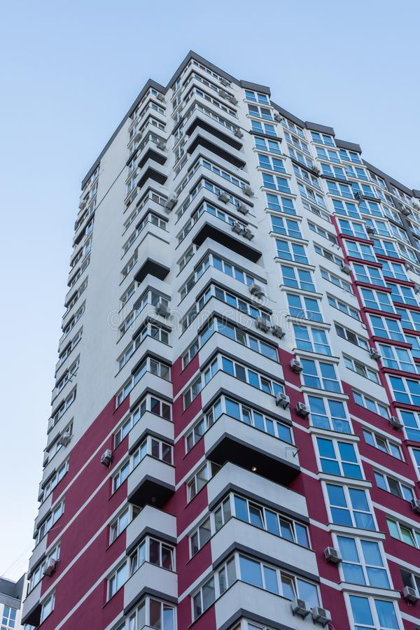 New multi-storey houses in Kiev. Construction of multi-storey residential buildings, new houses in Kiev, the capital of Ukraine stock photography