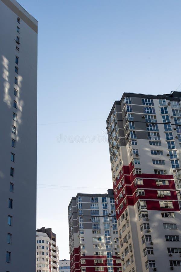 New multi-storey houses in Kiev. Construction of multi-storey residential buildings, new houses in Kiev, the capital of Ukraine stock images