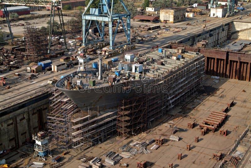 Construction navale, réparation de bateau photographie stock