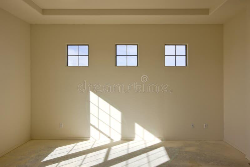 Construction neuve d'intérieur de mur de pierres sèches image libre de droits