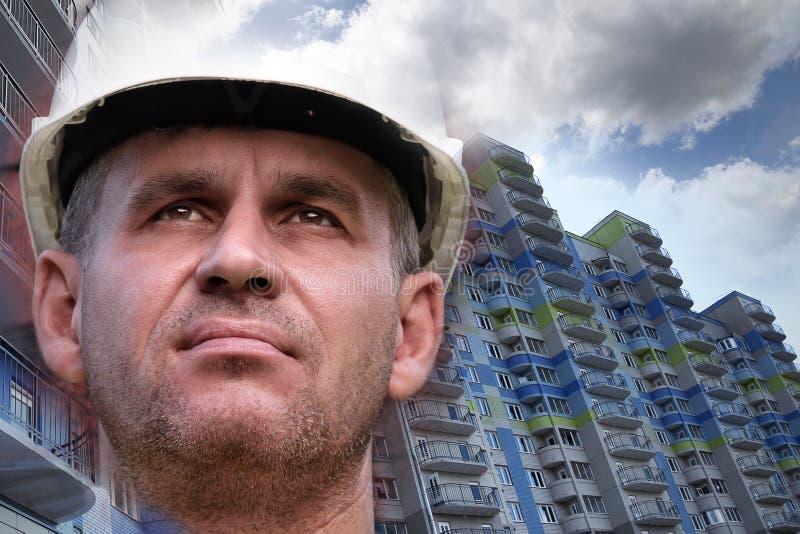 Construction of new apartments, condominium stock photography