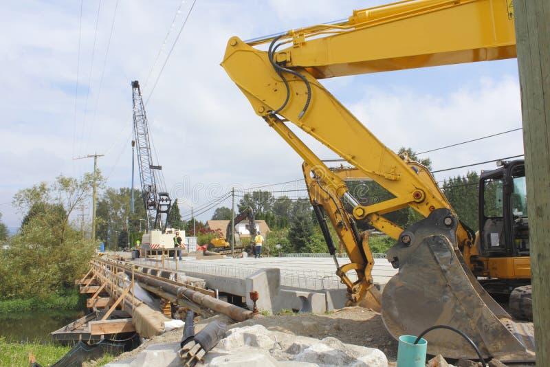 Construction of a new Bridge stock photography