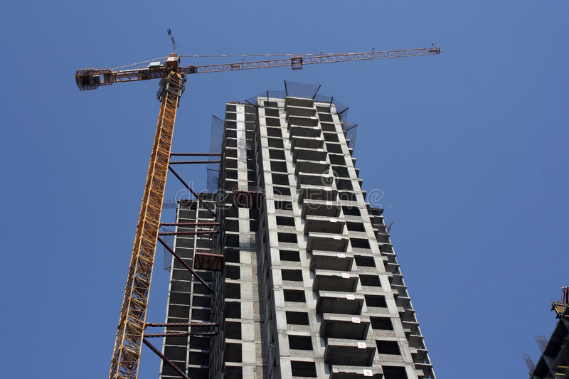 Construction of new building royalty free stock image