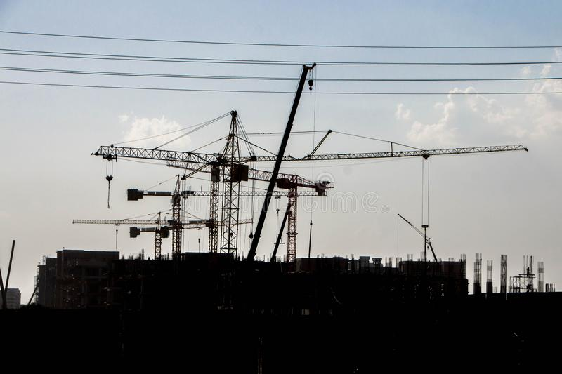 Construction of the new building stock photography