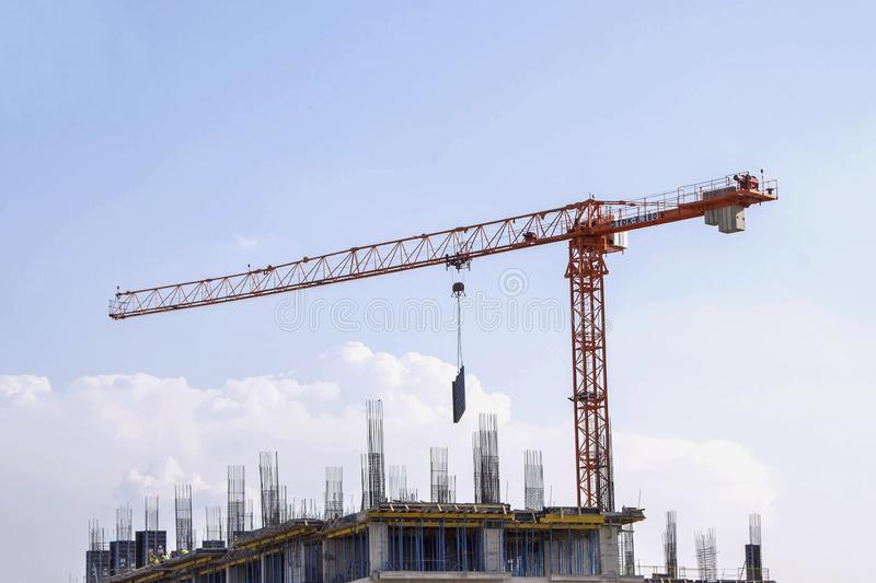 Construction of the new building royalty free stock photo