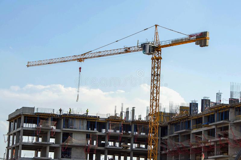 Construction of the new building stock image