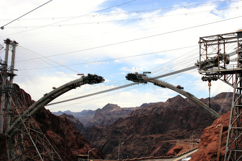 Download Construction Of New Hoover Dam Bridge Bypass Royalty Free Stock Image - Image: 10894176