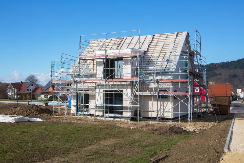 Download Construction Of A New Prefabricated House. Stock Image - Image: 38749419