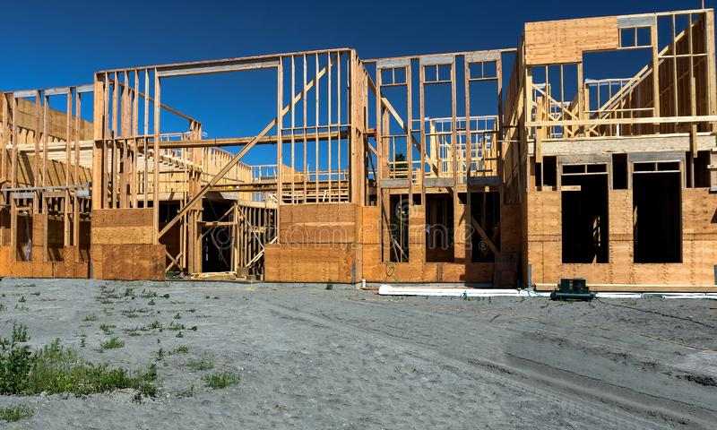 Construction Site in Richmond City Framing and Foundation royalty free stock photos