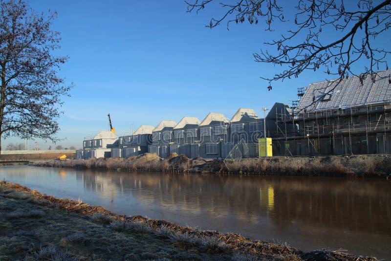 Construction of new residential district Esse Zoom Laag in NIeuwerkerk aan den IJssel in the Netherlands. stock image