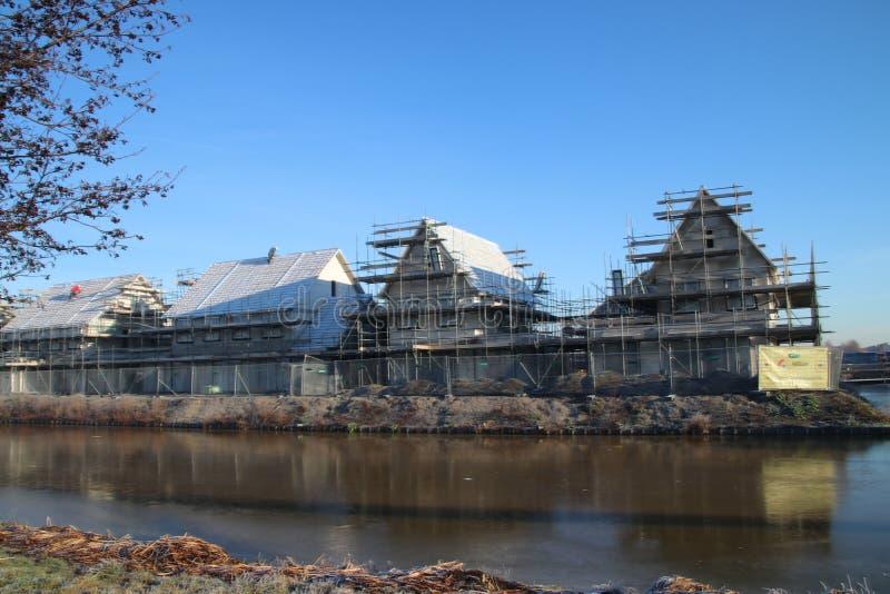 Construction of new residential district Esse Zoom Laag in NIeuwerkerk aan den IJssel in the Netherlands. royalty free stock photography
