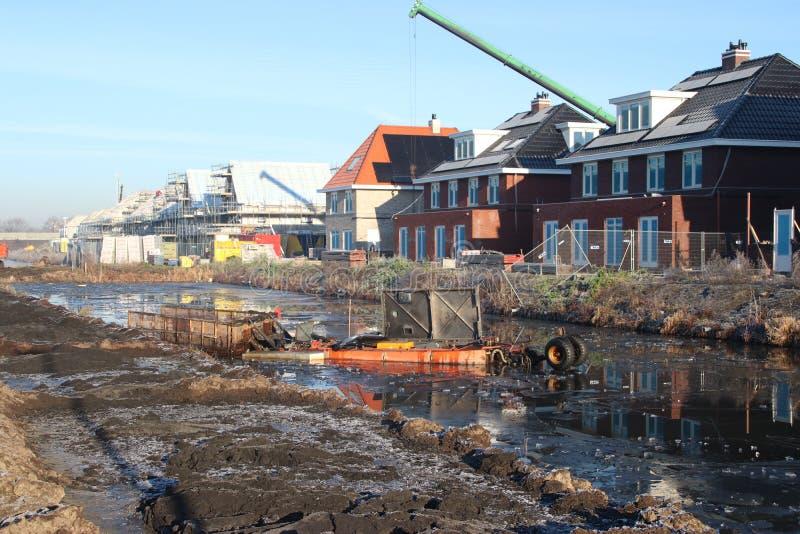 Construction of new residential district Esse Zoom Laag in NIeuwerkerk aan den IJssel in the Netherlands. stock photography