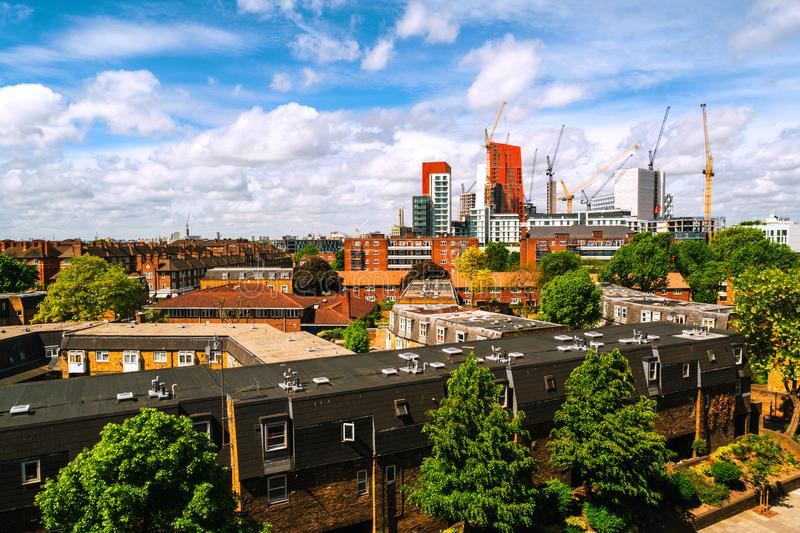 Construction of new skyscrapers in South Lambeth in central part of London, UK stock image