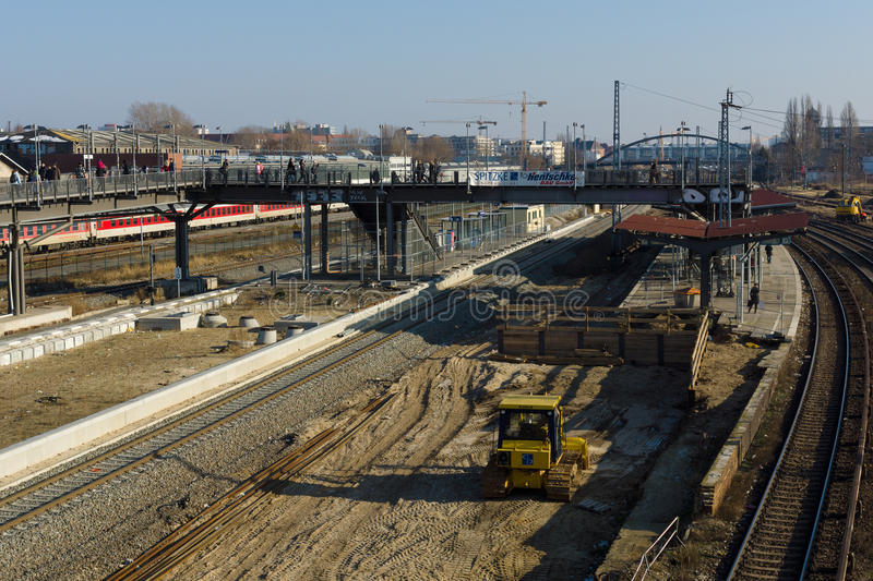 Construction Of A New Station Warschauer Strasse Editorial Stock Image